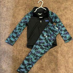 2T Under Armour Quarter zip and matching pant set